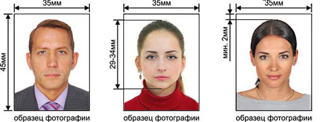 Примеры фотографий на документы
