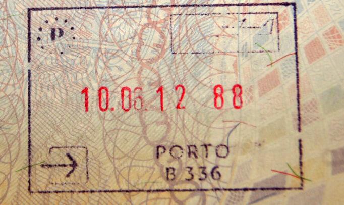 Пограничный штамп Португалии