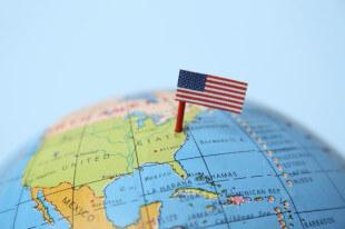 Америка на глобусе