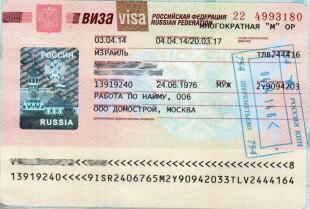 Визовое разрешение в РФ