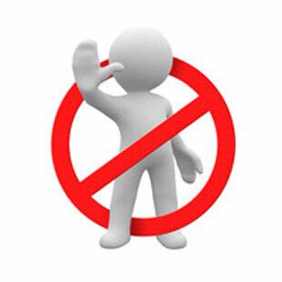 Отказ в принятии заявления