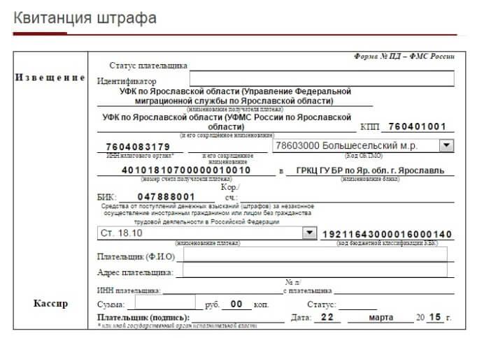 Где платить штраф за просрочку регистрации