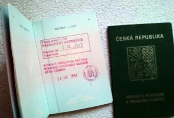 Паспорт гражданина Чехии