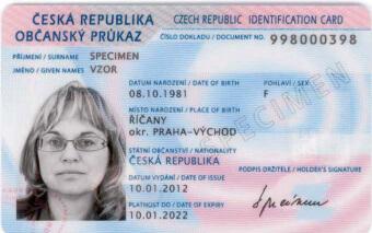 Чешская идентификационная карта