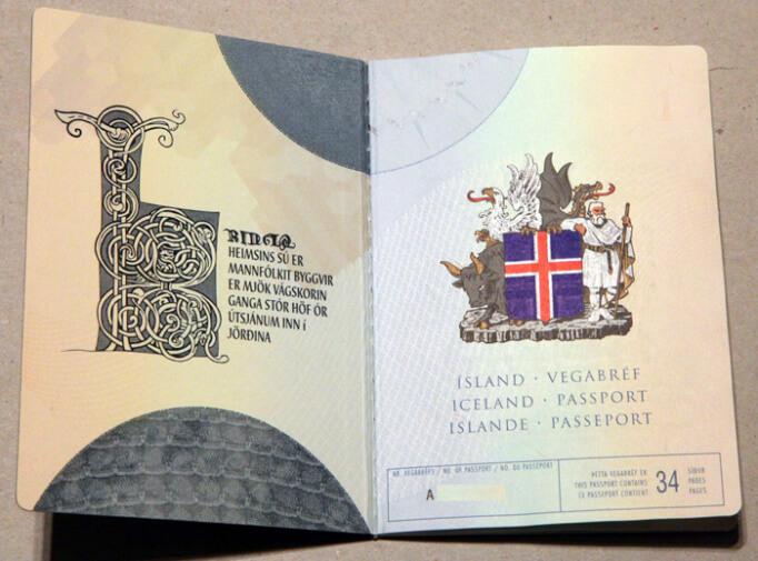 Паспорт в Исландии