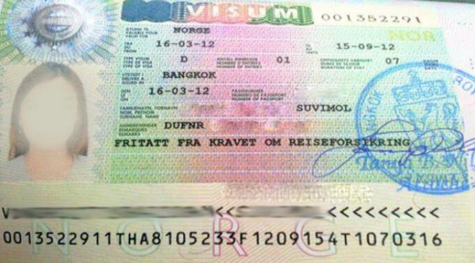 Национальная норвежская виза