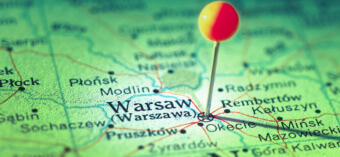 Варшава на карте