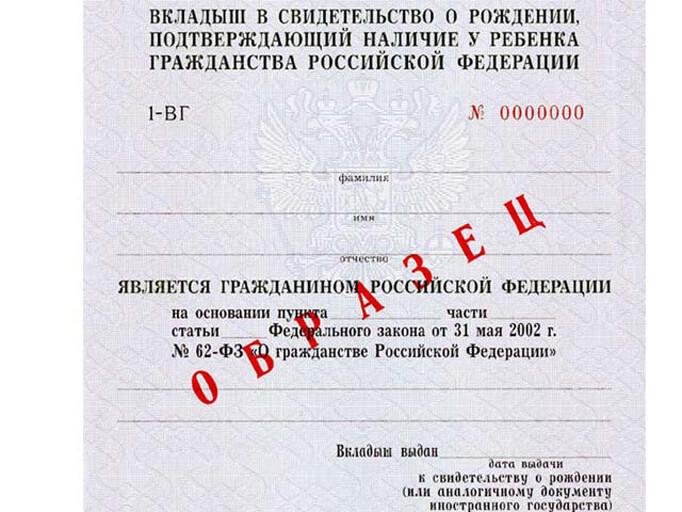 Заявление на получение российского гражданства