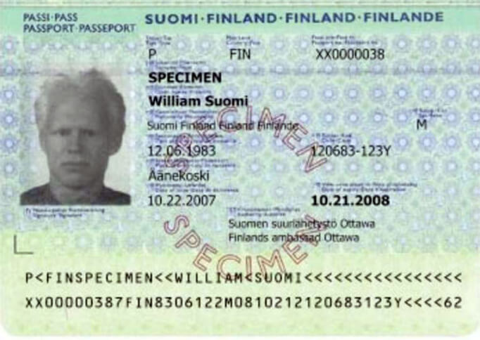 Паспорт гражданина Финляндии
