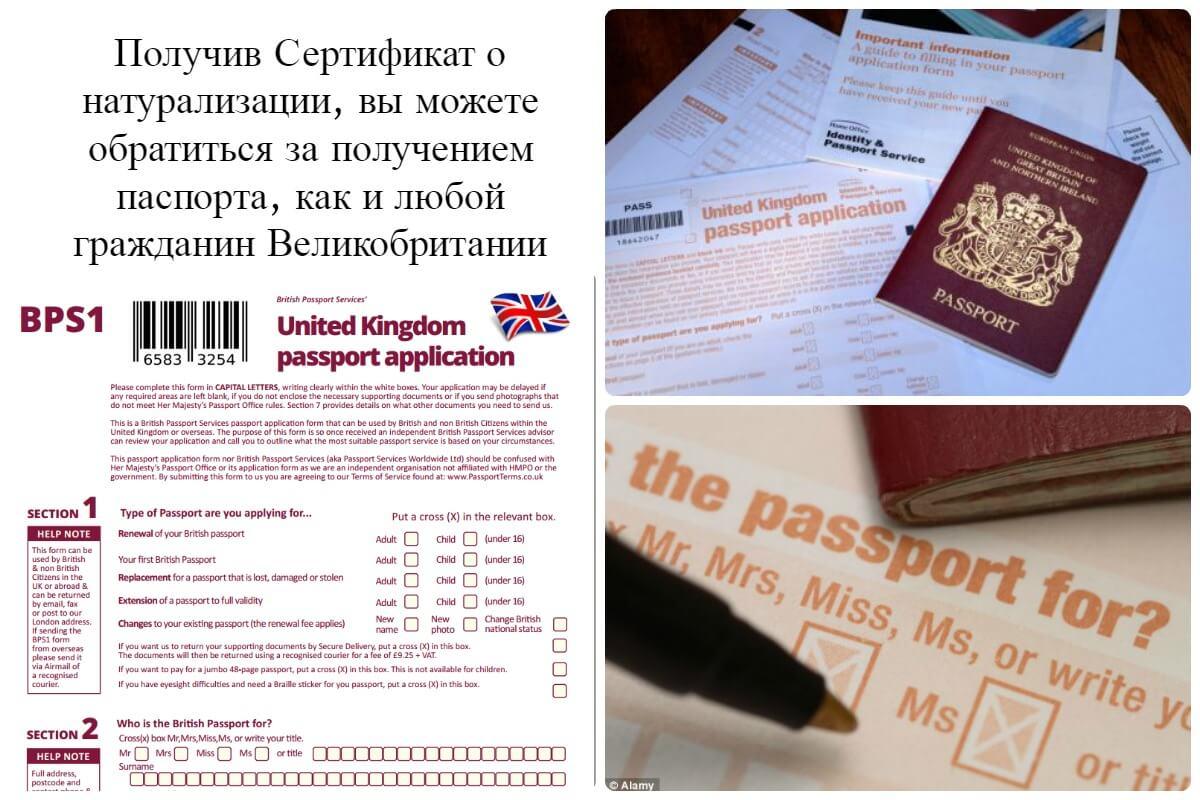 После получения гражданства, какие документы нужны на подачу