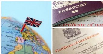 Британский флаг и паспорт
