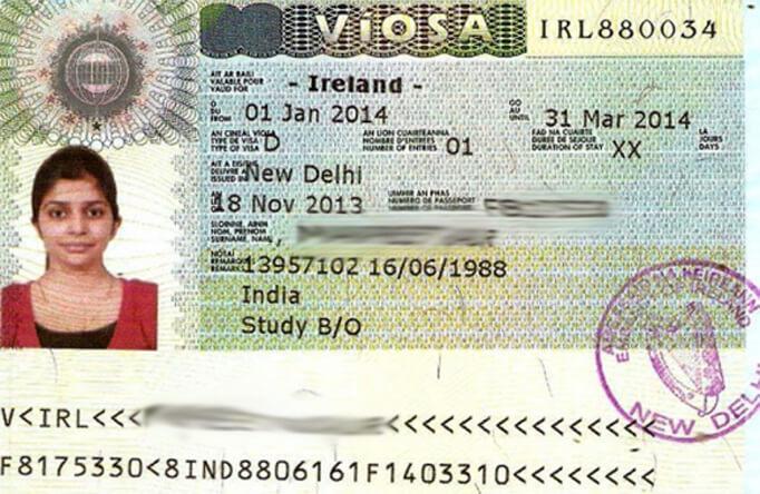 Ирландская национальная виза