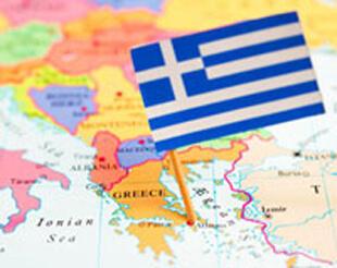 Карта Греции и флаг