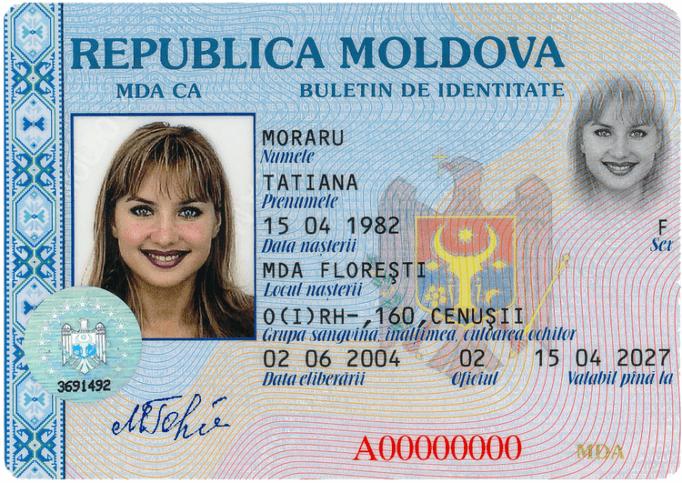 Удостоверение личности гражданина Молдовы