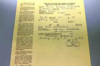 Документ о рождении ребенка в Испании