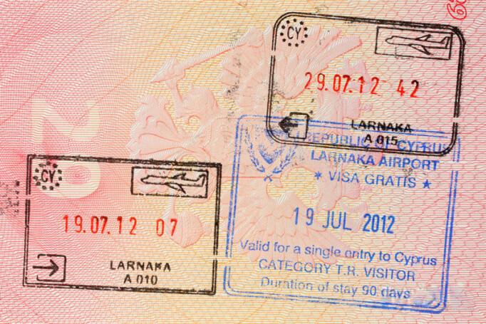 Штампы въезда на Кипр в загранпаспорте