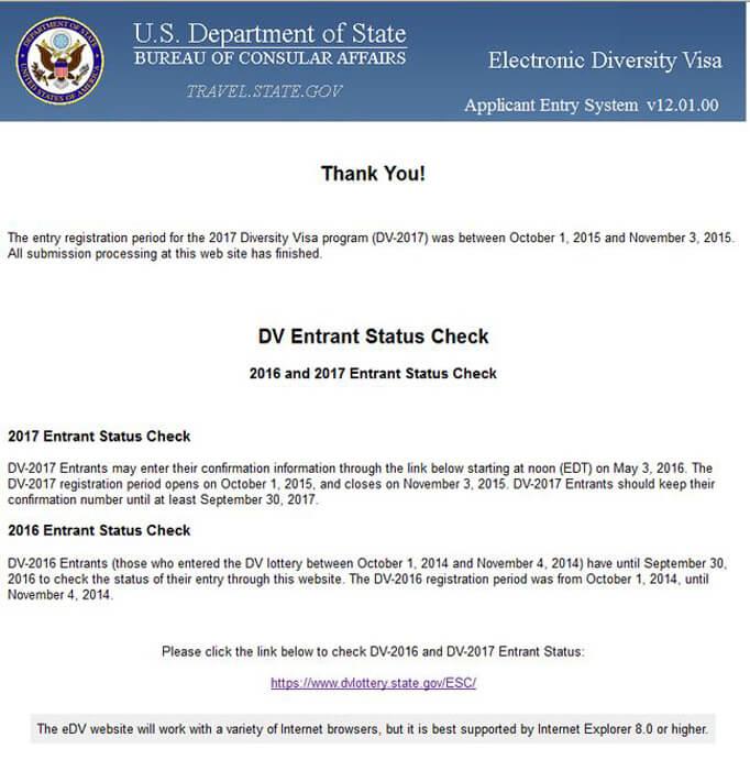 Американский сайт для регистрации на Грин карту