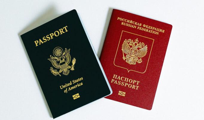 Российский и американский поспорта