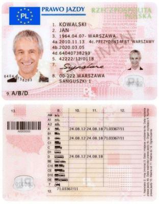 Европейское водительское удостоверение