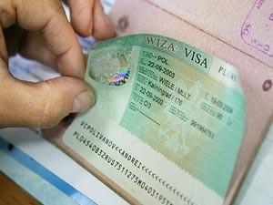 Визовый стикер в паспорте