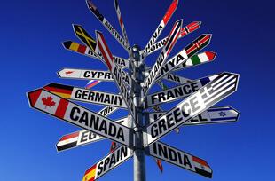 Таблички с названиями стран