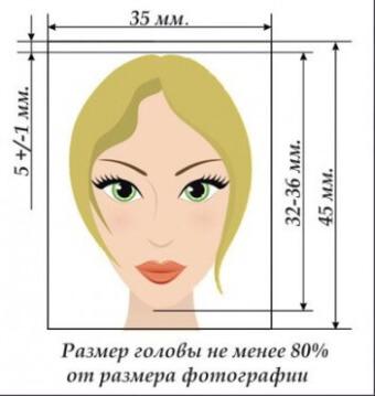 Пример фото на документы