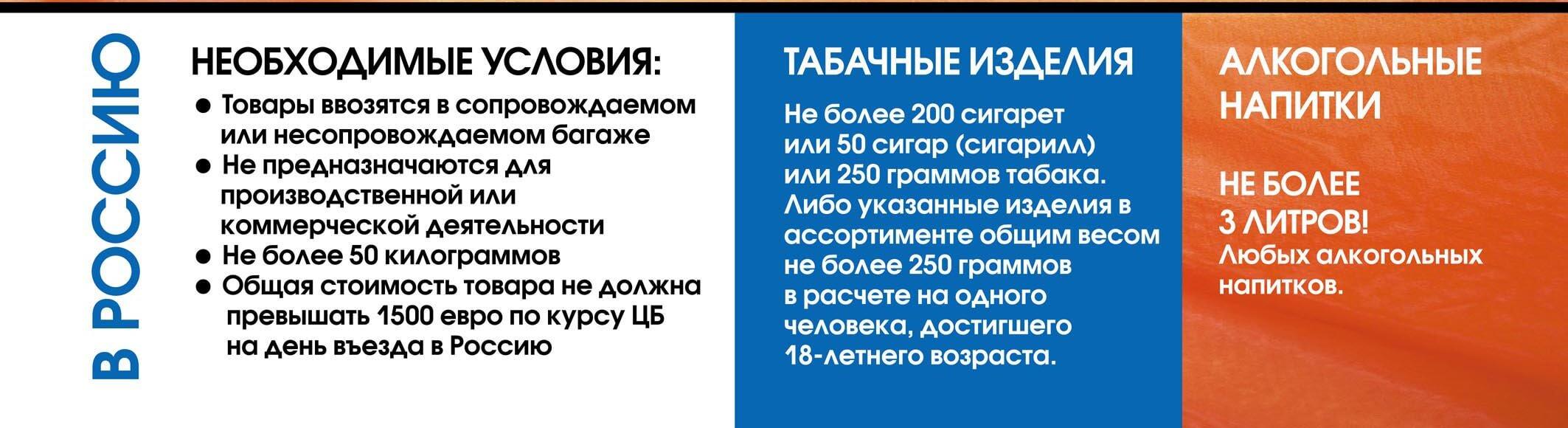 Правила провоз табачных изделий из днр в россию