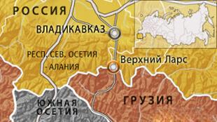 Корнтрольно-пропускной пункт Верхний Ларс на карте