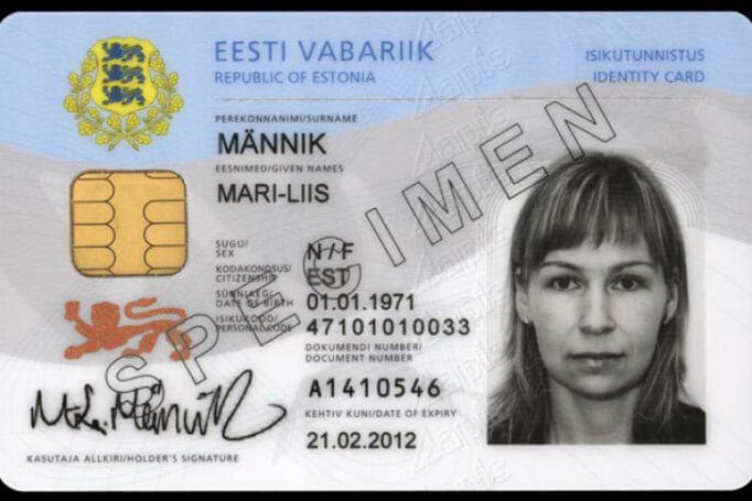 Карточка поданого Эстонии