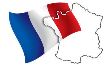 Флаг и Карта Франции