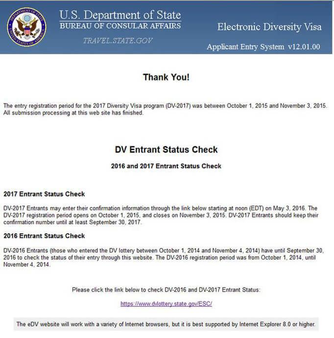 Страница регистрации на Green Card
